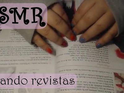 ASMR (Español): Ojeando revistas de manualidades y comiendo caramelos