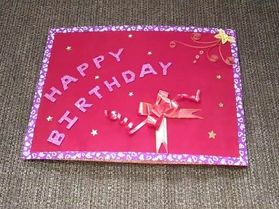 Best handmade scrapbook greeting card for girlfriend or best friend or someone special or loved ones