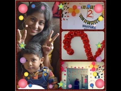 Birthday party DIY decorations.birthday party ideas tamil.Chikku's 2nd birthday celebration