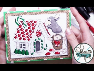 Make christmas crafts christmas wreath pop up greeting card christmas mice greeting card tea time with tarryn m4hsunfo