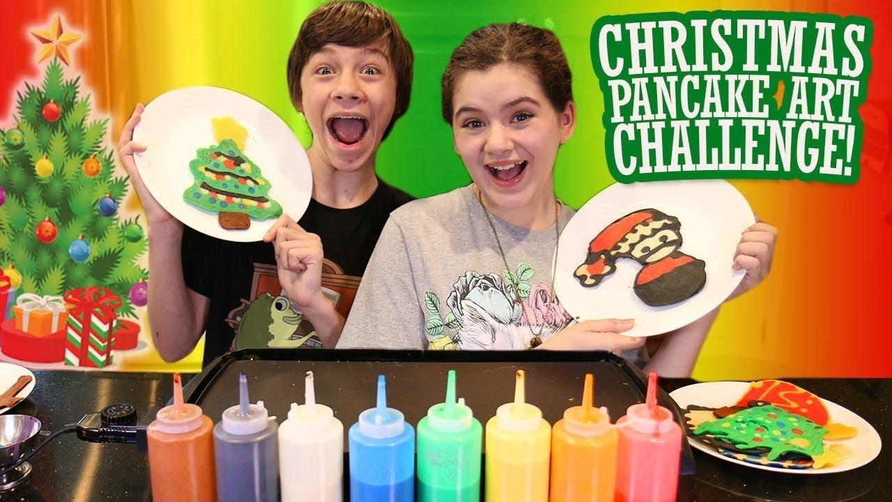 Christmas Pancake Art Challenge! ????