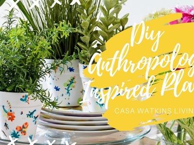 DIY Anthropologie Inspired Planters. ** DIY Gift & Decor Idea**