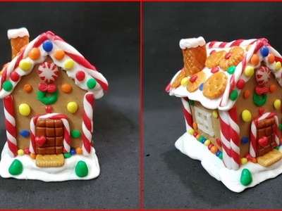 DIY Cardboard House.DIY Clay Ginger bread house. How to make Cardboard House