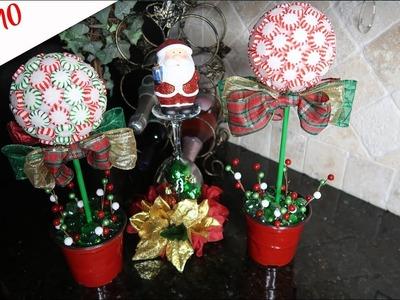 DIY Dollar Tree Starlight Mint Topiary
