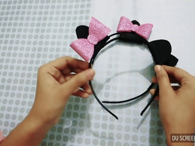 DIY hello kitty hair band in the easiest way for the Christmas