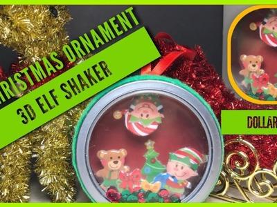 DIY Santa's Elves 3D Christmas Ornament Shaker - Dollar Tree D.I.Y - Xmas Ornament Tin