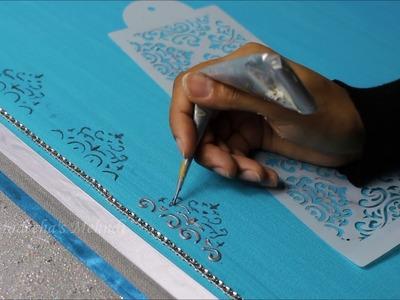 DIY Wall canvas art project - Urdu poetry | IG: @madeehas_mehndi