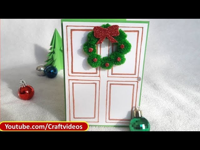 Ideas For Christmas Cards To Make.Easy Christmas Card Making Ideas For Kids Christmas Wreath