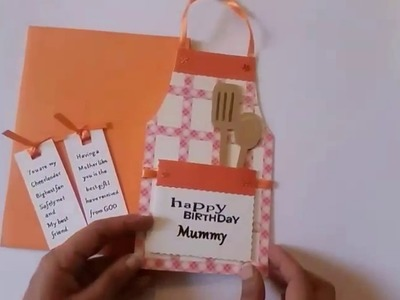 Handmade birthday card for mother, mom, mummy, mother in law