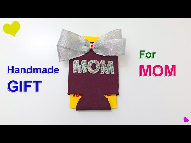 Handmade Gift for Mom   Christmas, Mother's Day & Birthday Koozie Gift