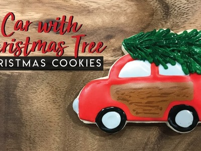 How to decorate a car with a Christmas tree cookie