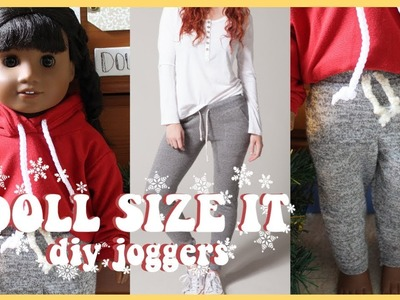 HOW TO DIY JOGGER SWEATPANTS FOR AMERICAN GIRL DOLL!