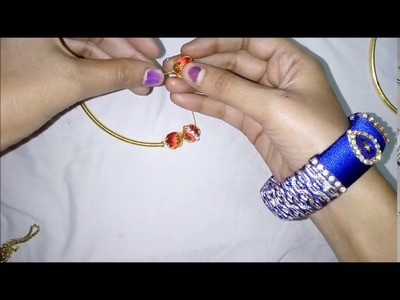How to do choker necklace in home easy way.silk thread diy