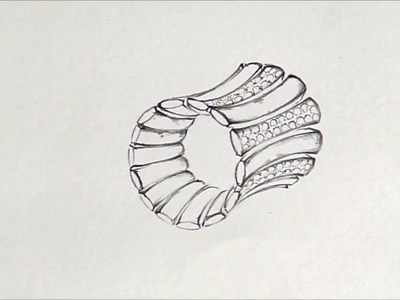 How to draw jewelry step by step