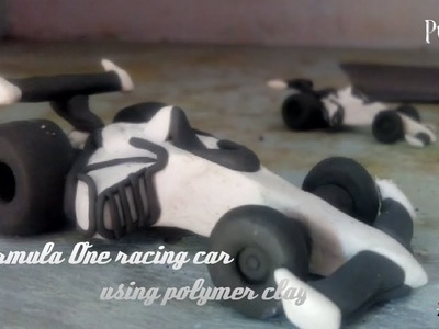 How to make a Formula one racing car. tutorial using polymer clay