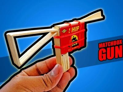 How To Make A Matchbox Gun That Shoots || Simple DIY Gun. Pistol