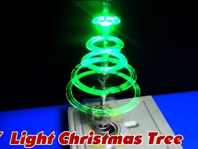 How to make a Sparkling LED Light Christmas Tree