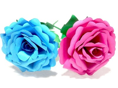 How to make easy & realistic Paper Rose flower | DIY Origami Rose