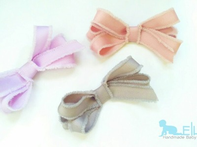 How To Make : Grosgrain Ribbon Bow For Headband | DIY by Elysia Handmade