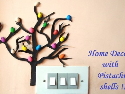 Inexpensive DIY cardboard tree with Birds- Home Decor | Best out of waste