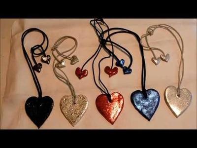 Kaye's Polymer Clay hearts