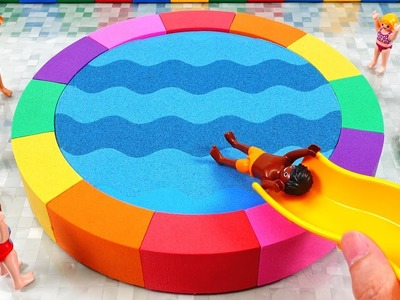 Kinetic Sand Rainbow Water Pool Play Mobile Summer Fun Surprise Toys Learn Colors for Kids