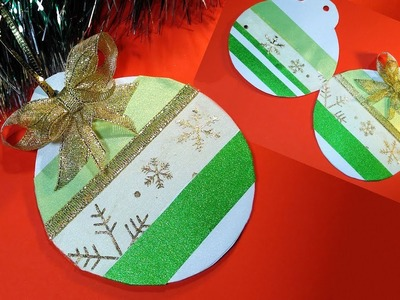 Last minute Easy Christmas gift card with pockets. Christmas greeting card.