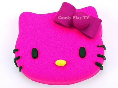Learn Colors Play Doh and Kinetic Sand for Kids | DIY How To Make Hello Kitty For Children