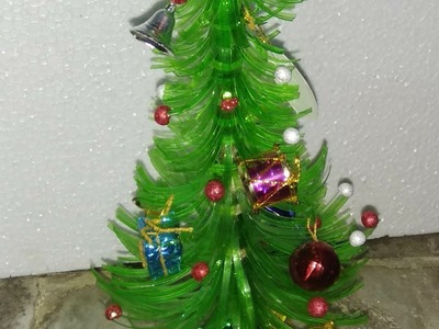 Make Christmas tree from waste bottle