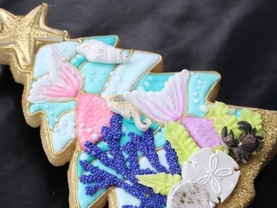 Mermaid Christmas Tree Cookie - Mermaid cake trend on a cookie satisfing instrumental version