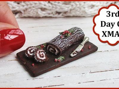 Miniature Christmas Yule Log, Polymer Clay Tutorial    Maive Ferrando