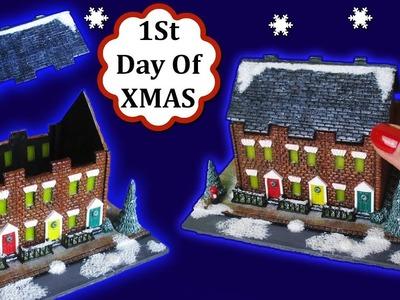 Miniature London Street At Christmas Scene.Lantern, Polymer Clay Tutorial    Maive Ferrando