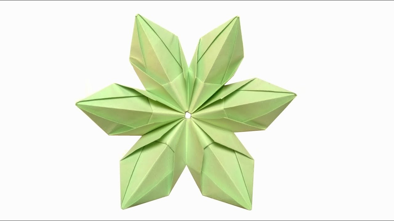 Modular Origami Flower 6 Unit Tutorial Step By Step My Crafts