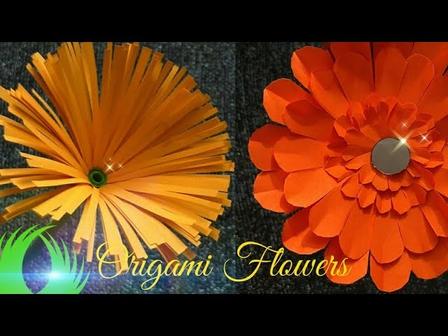 Origami Flowers  Home Decor idea   Fun Project for Kids  paper flowers