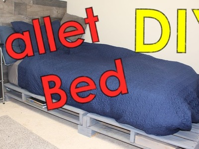 Pallet Bed Frame - Easy DIY Pallet Projects