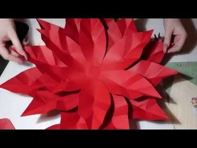 Paper Flower Poinsettia Tutorial- Flowers By Felix