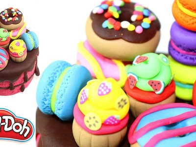 Play Doh Macaroon and Cupcakes Fruits Rainbow Jewelry Cake and Ice Creams Mickey Mouse Clubhouse