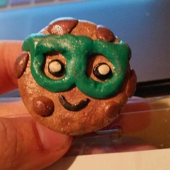 Polymer Clay Nerdy Cookie Charm