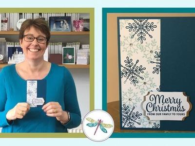 Quick Stampin' Up! Snowflake Christmas Card