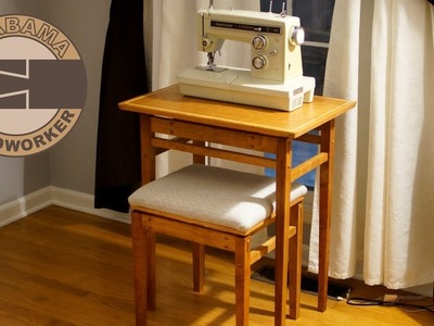 Sewing Table and Stool Part 4: Seat Cushion, Glue-Up, Finish, and Hardware
