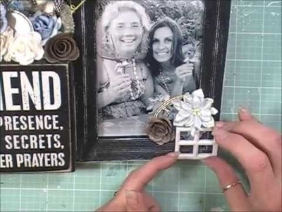 Shabby Chic diy Home Decor Photo Frame (DT Project for Reneabouquets)