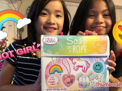 Soap on a rope; fun soap making for kids; DIY cute soap