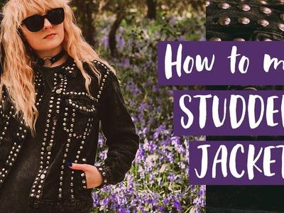 Studded Denim Jacket FASHION DIY | Rock Punk Style