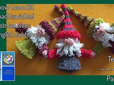 Teil 1 Rainbow Loom 3D Weihnachtswichtel. Christmas elves with english subtitles