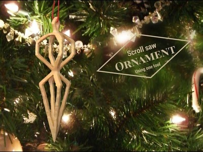 3d Christmas ornament.gift (How to video)scroll saw project. Compound cuts on scroll saw