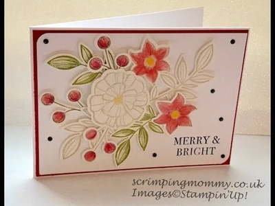 3d hand coloured Christmas card Stampin' Up! products