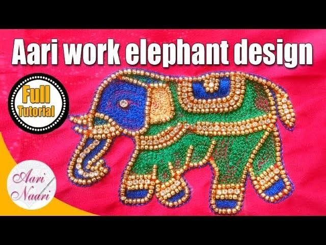 Aari work elephant design for beginners hand
