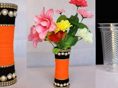 Beautiful Flower Vase Making at Home || Handmade Craft Idea || Beat out of waste Idea || DIY