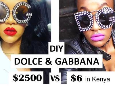DIY D & G Dolce and Gabbana Sunglasses worn by Rihanna  on Instagram