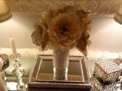 DIY Dollar Tree Bling out Your Vases for only Two Dollars!